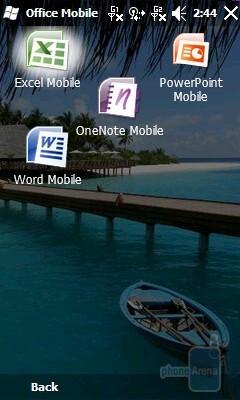 Office Mobile applications - GIGABYTE GSmart S1205 Review