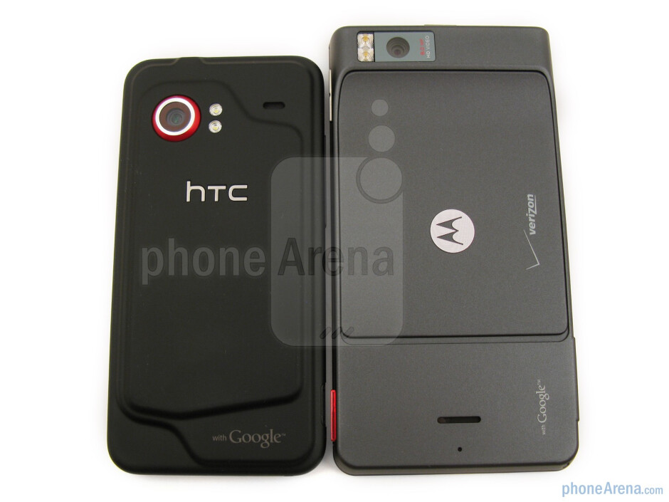 """The Motorola DROID X is the larger of the two both in height and width (5.02"""" x 2.57"""") - Motorola DROID X vs. HTC Droid Incredible"""