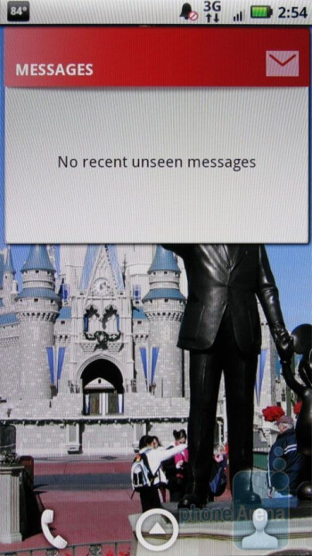 Messages widgeton the Motorola DROID X - Motorola DROID X vs. HTC Droid Incredible