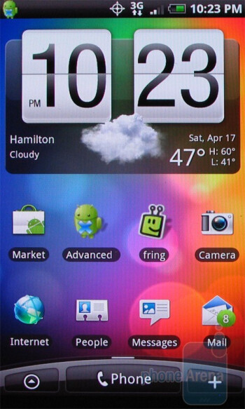 HTC Droid Incredible - Both devices have 7 home screens - Motorola DROID X vs. HTC Droid Incredible