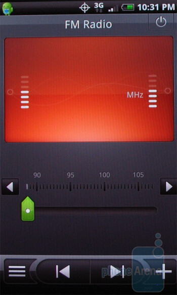 FM radio - The music player of the HTC Droid Incredible - Motorola DROID X vs. HTC Droid Incredible