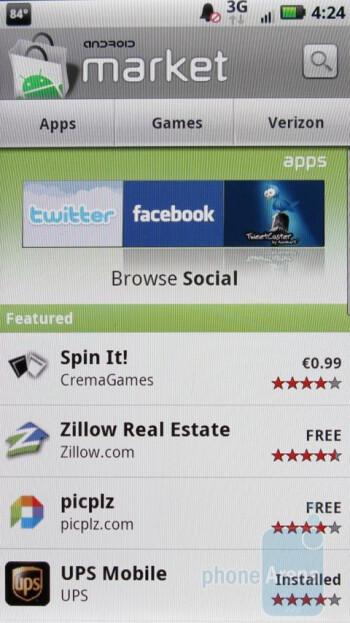 Android Market - Motorola DROID X vs. Apple iPhone 4