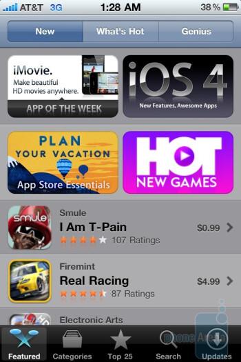 Apple's App Store - Motorola DROID X vs. Apple iPhone 4