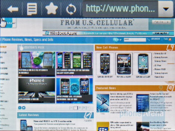 The internet browser - Samsung Gravity T Review