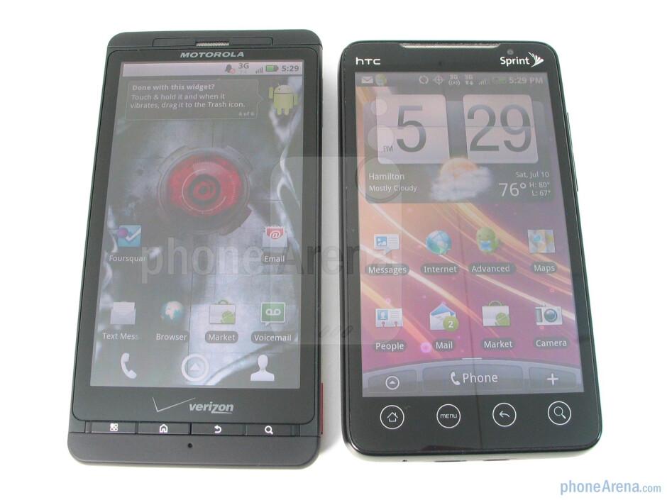 Motorola DROID X vs. HTC EVO 4G