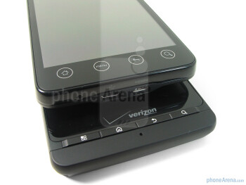 Motorola DROID X - bellow, HTC EVO4G - above - Motorola DROID X vs. HTC EVO 4G