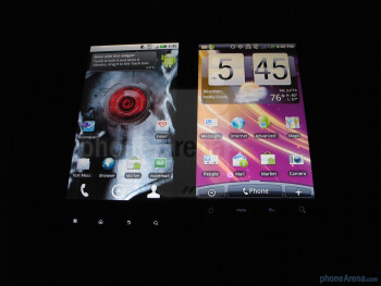 Motorola DROID X - left, HTC EVO4G - right - Motorola DROID X vs. HTC EVO 4G