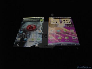 Motorola DROID X - left, HTC EVO4G - right - Motorola DROID X vs. HTC EVO 4G