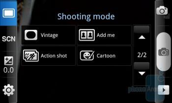 Camera interface - Samsung Captivate Review