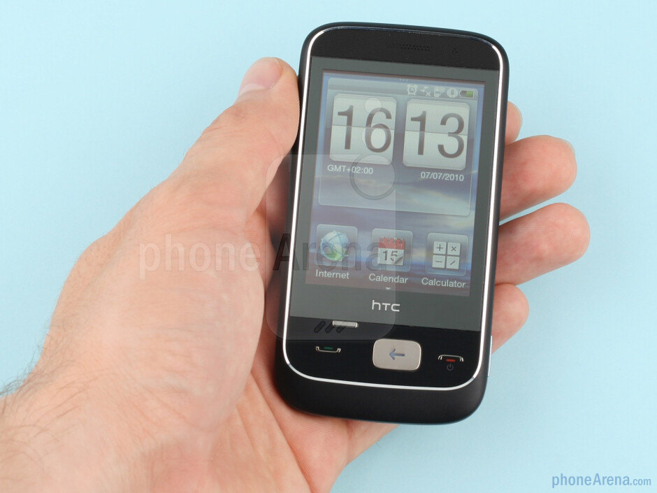 The HTC Smart feels sturdy and heavy when gripped - HTC Smart Review