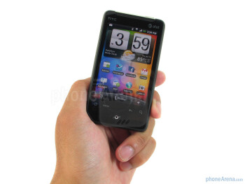 The HTC Aria feels well constructed and balanced - HTC Aria Review