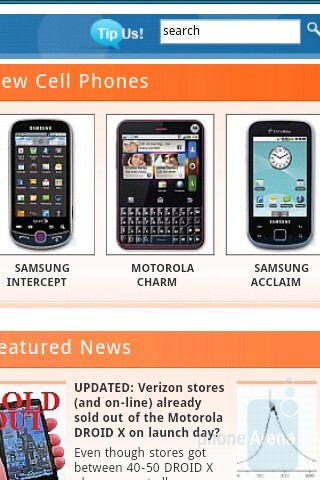 The web browsing experience on the HTC Aria is more than acceptable - HTC Aria Review