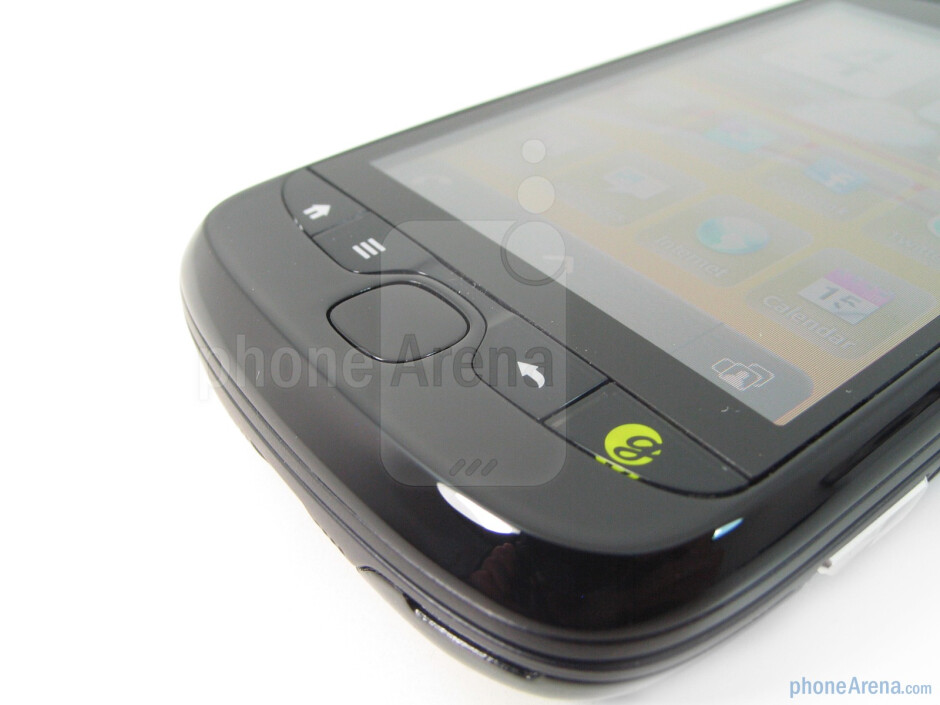 Physical buttons on the front - The 5-megapixel camera with LED flash is on the back - T-Mobile myTouch 3G Slide Review