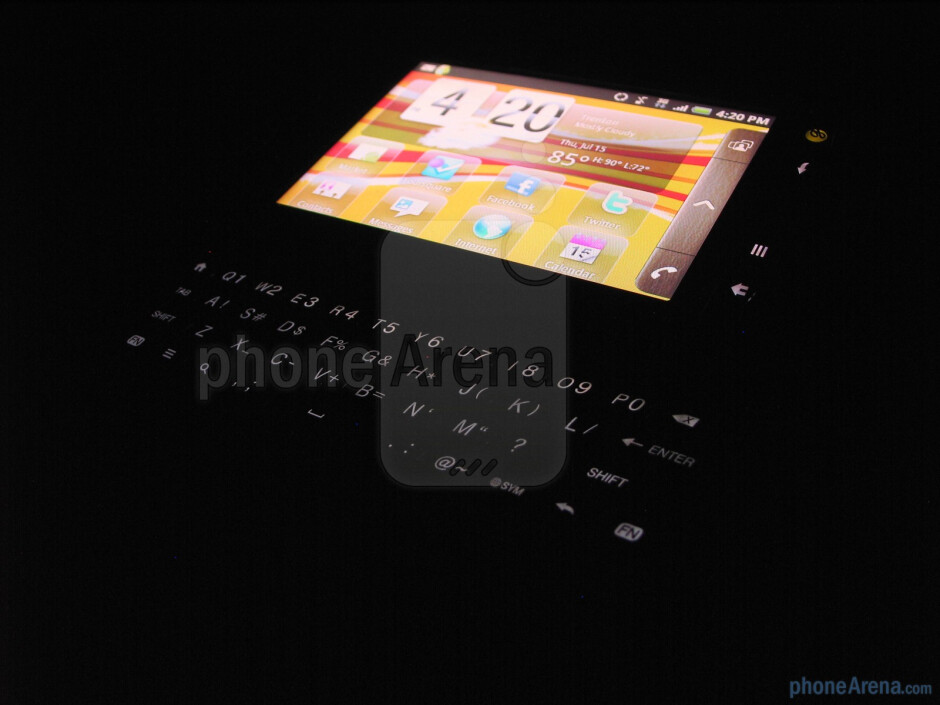 The four row QWERTY keyboard of the T-Mobile myTouch 3G Slide - T-Mobile myTouch 3G Slide Review