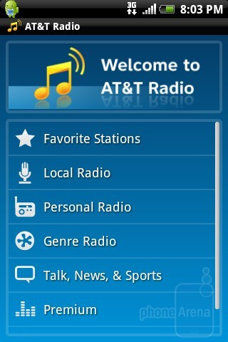 AT&T Radio - HTC Aria Review