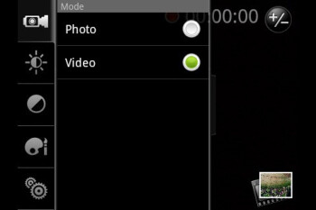 Camera interface - HTC Aria Review