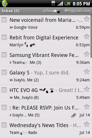 You are allowed to set up several email accounts - HTC Aria Review
