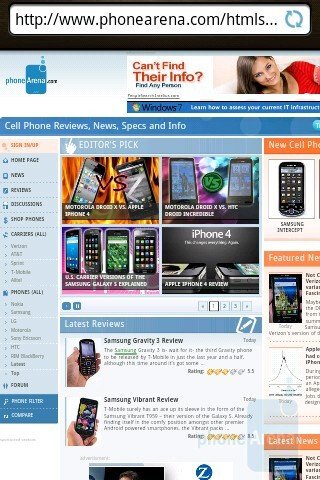 T-Mobile myTouch 3G Slide has a decent web browser - T-Mobile myTouch 3G Slide Review