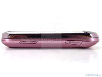 Left side - The elements along the body of the Samsung Intercept - Samsung Intercept Review