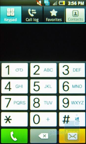 Dialing screen - Samsung Intercept Review
