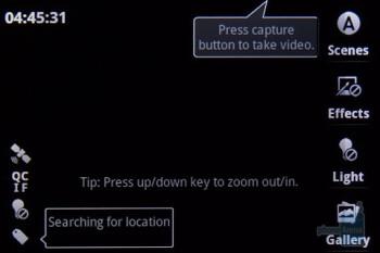 The camera interface - Motorola i1 Review