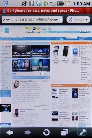 Opera Mini - Motorola i1 Review