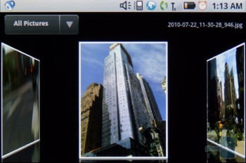 The Media Gallery app - Motorola i1 Review