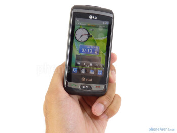The LG Vu Plus implements a gunmetal finish, accented with a subtle chrome border around the touchscreen - LG Vu Plus Review