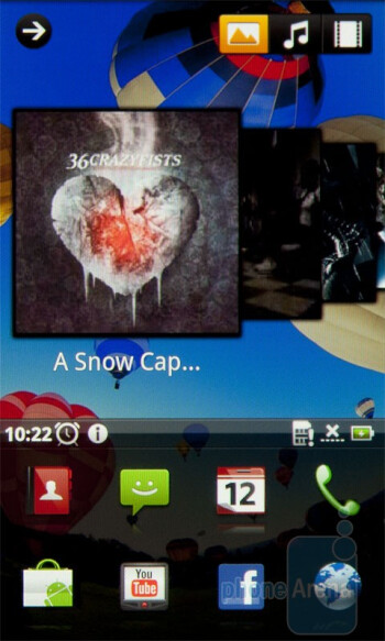 Multimedia screen - Home screen and applications menu of the Acer Stream - Acer Stream Review