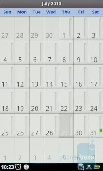 Calendar - Acer Stream Review
