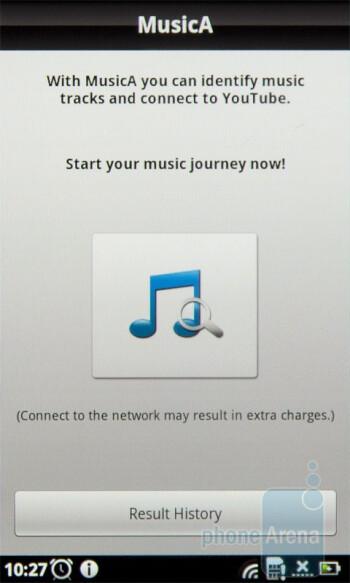 The MusicA app - Acer Stream Review