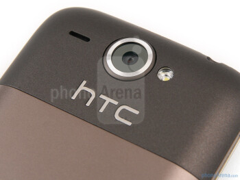 The back houses the 5MP camera - HTC Wildfire Review