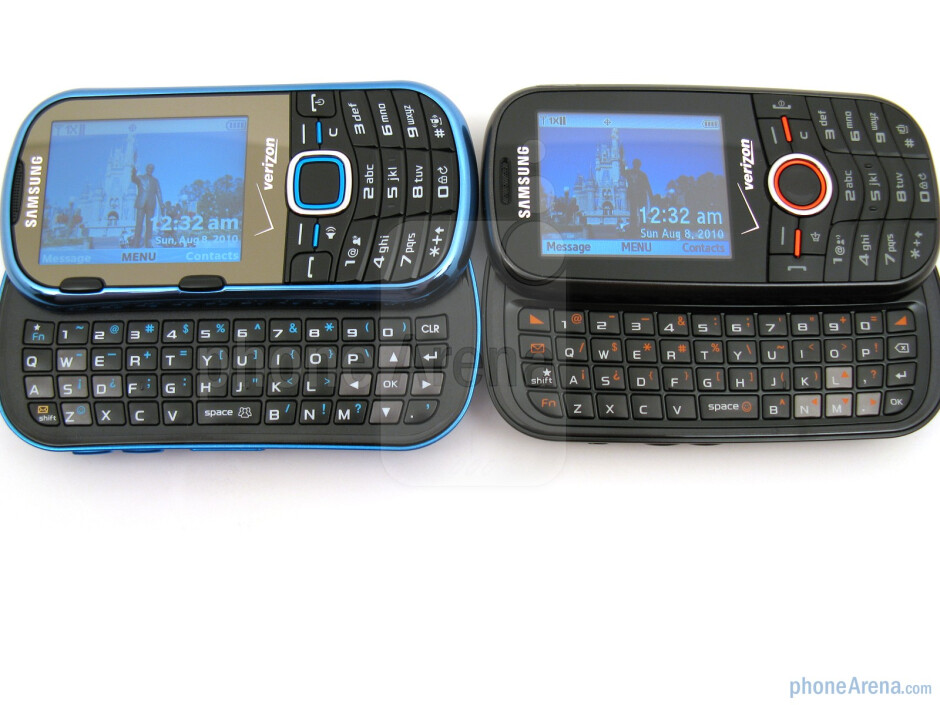 Samsung Intensity II (left and bellow) next to Samsung Intensity (right and above) - Samsung Intensity II Review