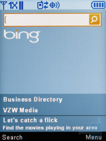 Microsoft Bing search - Samsung Intensity II Review