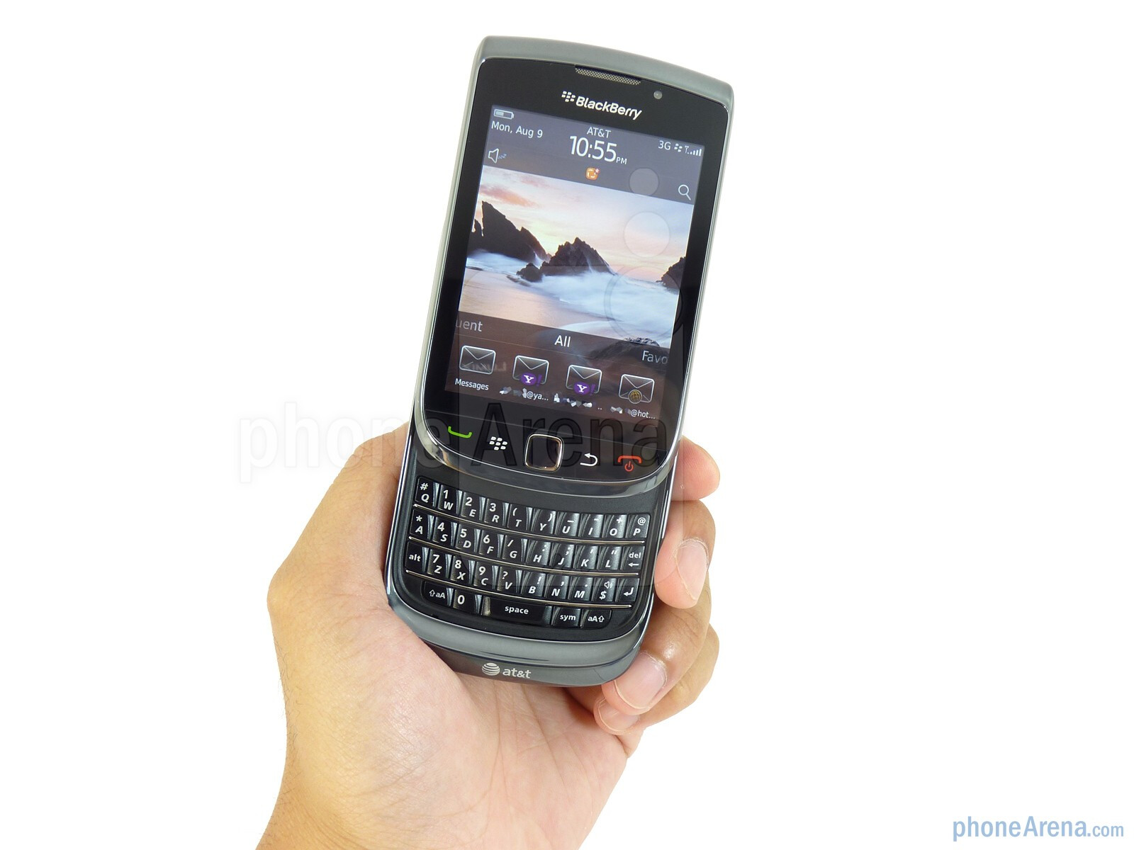 The RIM BlackBerry Torch 9800 is the first RIM device to employ a sliding  portrait QWERTY