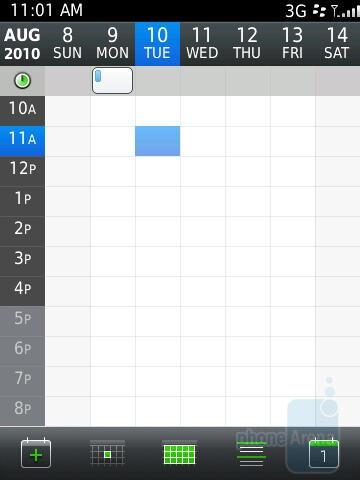 Calendar - RIM BlackBerry Torch 9800 Review