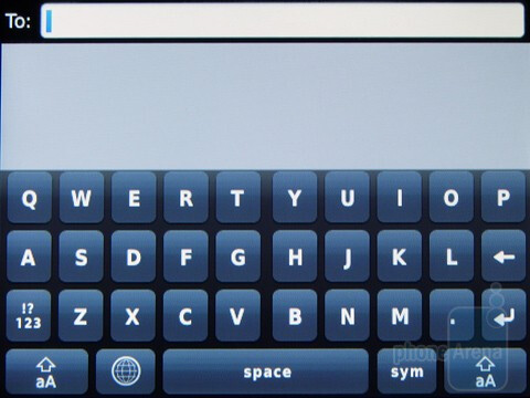 On-screen keyboards of the RIM BlackBerry  Torch 9800 - RIM BlackBerry Torch 9800 Review