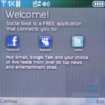 The Social Beat app - Pantech Jest Review