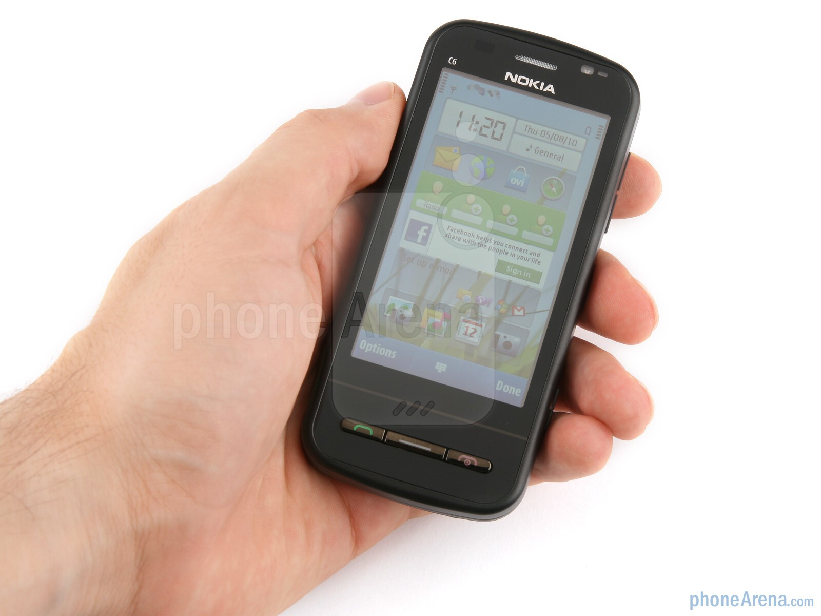 The nokia c6 is no lightweight at 529 oz