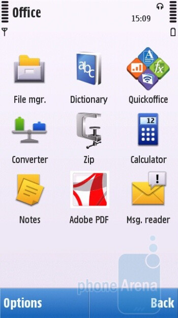 Office folder - Nokia C6 Review