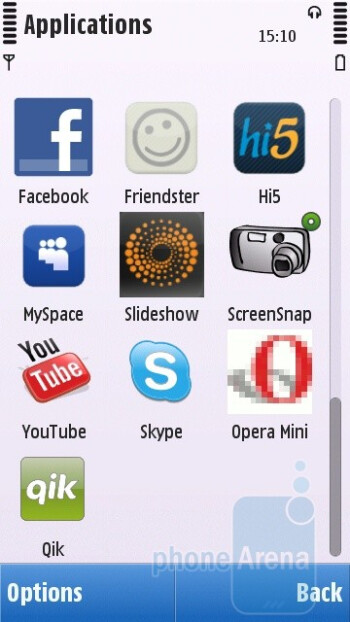 The interface of the Nokia C6 - Nokia C6 Review