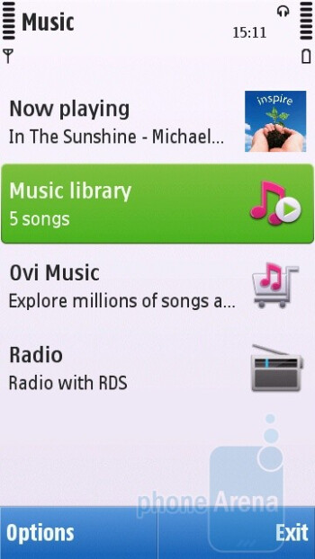 Music player - Nokia C6 Review