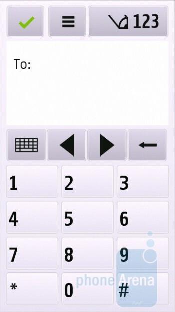 Messaging - Nokia C6 Review