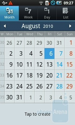 Calendar - Samsung Galaxy 3 Review
