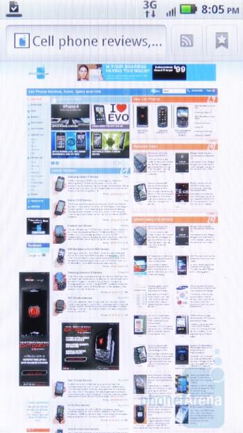 The  web browser of Motorola DROID 2 Global - Verizon iPhone 4 vs DROID 2 Global