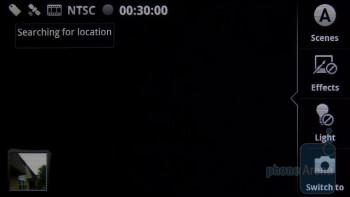 The camera interface of the Motorola DROID 2 - Motorola DROID 2 vs RIM BlackBerry Torch 9800