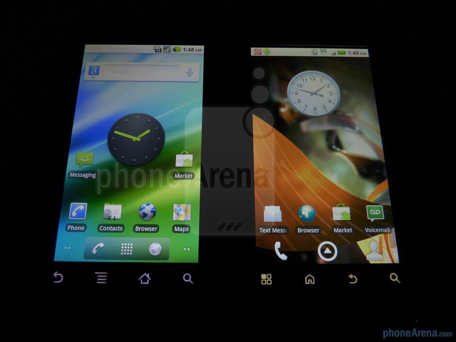Motorola DROID (left) next to Motorola DROID 2 (right) - Motorola DROID 2 vs. Motorola DROID