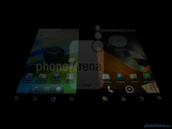 Motorola DROID (left) next to Motorola DROID 2 (right) - Motorola DROID 2 vs. Motorola DROID