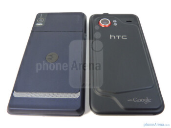 Motorola DROID 2 (left) and HTC Droid Incredible (right) boast two completely different designs. - Motorola DROID 2 vs. HTC Droid Incredible