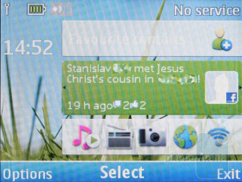 The Home screen of the Nokia C3 - Nokia C3 Review